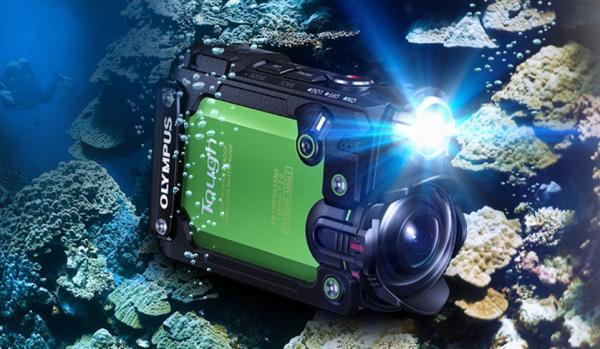 fond marin olympus tg cracker caméra action
